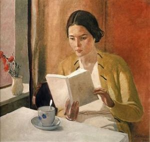 """Woman Reading"" by Alexander Deineka."
